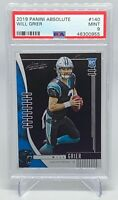 Will Grier 2019 Panini Absolute #140 Rookie RC PSA 9 ( Panthers )