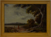 Framed Mid 20th Century Oil - Fetching Water