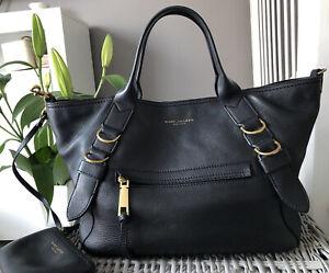 Beautiful Genuine Marc Jacobs Black Pebbled Leather tote bag, Handbag, grab bag