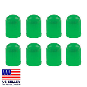 8PC Tire Valve Stem Caps Tight Seal for Car SUV Bike Bicycle Motors Truck Green