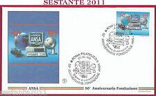 ITALIA FDC FILAGRANO ANNIVERSARIO AGENZIA ANSA 1995 ANNULLO ROMA FILATELICO U555