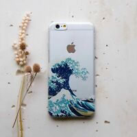 Tsunami Wave iPhone XS Max New Silicone Cover For iPhone 7 8 Plus Rubber Case