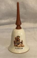 """Ceramic Goebel M.J. Hummel® EventIde Bell With Wooden Handle - 5.5"""""""