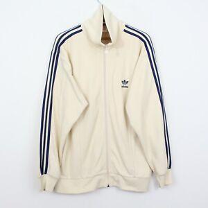 A26 Vtg Adidas Originals 90s Men Ivory Track Jacket Retro Rare Size L