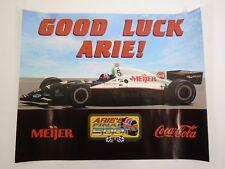 Arie Luyendyk Final Indianapolis 500 Poster Treadway Racing Meijer Coca-Cola