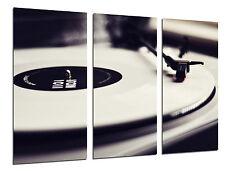 Cuadro Moderno Tocadiscos Vintage, Discos de Vinilo, Musica, ref. 26520