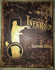 Vtg Dante's Inferno Illust. Gustave Dore Trans Rev Cary Sign 1887 Large VG Hell