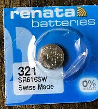 321 RENATA SR616SW SR616 Watch Battery 1pc