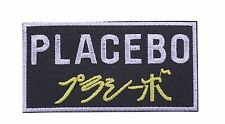 embroidered iron on sew on music Placebo applique patches placebo patches badges