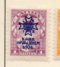 Latvia 1921-22 Early Issue Fine Mint Hinged 1s. Optd 228219