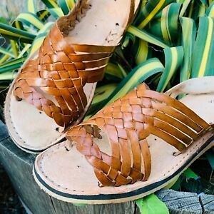 Womens Mexican Handmade Leather HUARACHES Sandals Sandalias Mujer MEXICO TRENSA