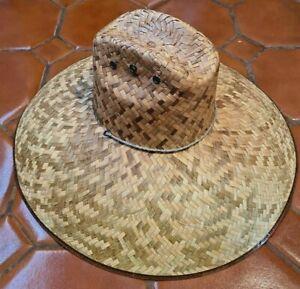 XL NATURAL Straw Summer HAT BEACH GARDENING FISHING Hiking Concho 080 MEXICO