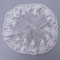 1 Yard Embroidered Tulle Lace Trim Edge Mesh Net Wedding Sewing Craft DIY Decor
