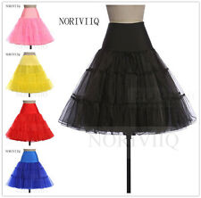 Retro Lady 50s Rockabilly Petticoat Slip Black/White Short Underskirt Tutu 25""