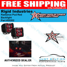 Rigid Industries 20202 Radiance Pod Red Backlight Pair of 2