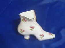 Tettau ANNO 1890 Porcelain Victorian Shoe GOLD TRIM, STEMS & ROSES - Beautiful!
