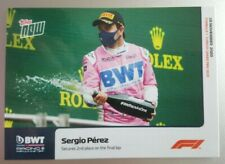 2020 Topps Now F1 #14 Sergio Perez Secures 2nd Place on Final Lap - PR: 1262