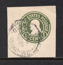 Scott # U420a, used, VF, 1¢ Franklin, 1915, Die 2, Light Cancel, No Faults!