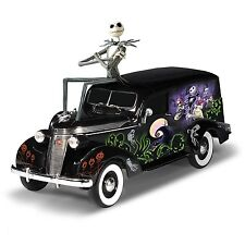 The Nightmare Before Christmas Hearse Jack car 1:18-Scale - BRADFORD EXCHANGE