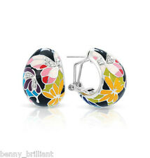 Belle Etoile Butterfly Kisses Black Earrings NWT