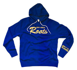 Golden State Warriors Bay Area Roots Pullover Hoodie Blue Yellow Gold Men's (L)