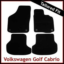 Volkswagen VW Golf Mk6 Cabriolet 2011-2016 Tailored Carpet Car Mats BLACK