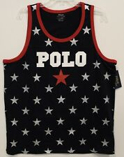 Polo Ralph Lauren Mens Navy Blue POLO Stars Tank Top T-Shirt NWT Size L