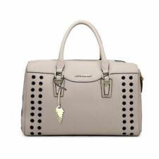 New PU Leather Pet Dog Cat Carrier Shoulder Bag Handbag Tote Net +pad Grey M