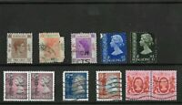 11X 1938-1982 KING GEORGE VI AND QE2 HONG KONG  STAMPS MOUNTED ON BLACK STOCKARD