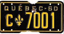 🌟🌟 🌟🌟 AUTHENTIC CANADA 1960 QUEBEC LICENSE PLATE.  C-7001