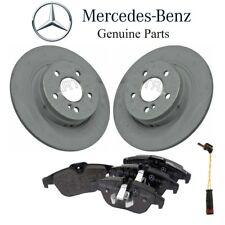 NEW Mercedes W204 C300 Rear Brake Pad Set & 2 Disc Rotors & 1 Sensor Kit Genuine