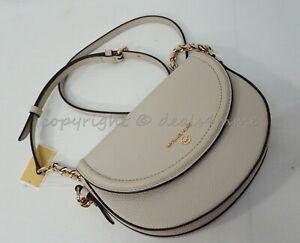 Michael Kors 32T0GT9C6L Medium Half Dome Chain Crossbody/Shoulder Bag Light Sand