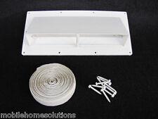 RV Mobile Home Parts Range Hood Vent with Damper Ventline White w/Install Kit