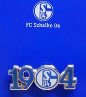 Pin / Anstecker + FC Schalke 04 Signet + Gründungsjahr 1904 + Lizenzprodukt #28