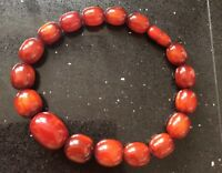 Vintage Art Deco Cherry Amber Bakelite Necklace Choker 195g