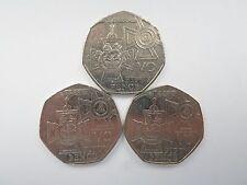 2006 150th Anniversario dell'Istituzione della Victoria Cross Cinquanta Pence Monete x 3
