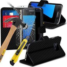 Portafoglio di Pelle Flip Stand telefono custodia cover ✔ Vetro Temperato Protezione Schermo