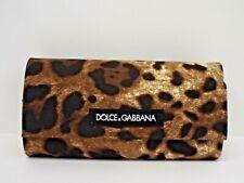 DOLCE & GABBANA Original Large Sunglasses Leopard Print Magnetic Case & Cloth