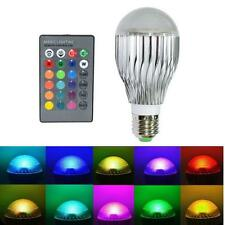 E27 15W RGB LED Light Color Adjustable Changing Lamp Bulb With Remote Control