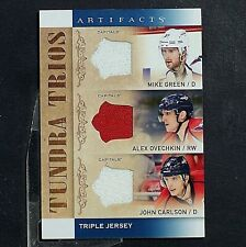 ALEX OVECHKIN  JOHN CARLSON + 2014-15 Artifacts Tundra Trios Jerseys Blue #T3WAS