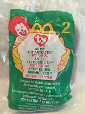 1999 Antsy The Anteater #2 Ty Teenie Beanie Babies McDonald's Happy Meal Sealed