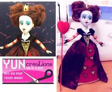 OOAK Red Queen Hearts Doll Alice Wonderland Handmade Collector Custom Repaint
