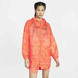 CJ3038-891 NWT Nike WOMEN Sportswear Long Tail Woven Full Zip hooded Jacket