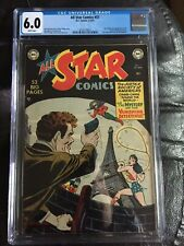 ALL STAR COMICS #57 CGC FN 6.0; White pg!; historic last JSA! rare!