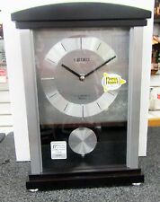 "SEIKO MANTEL CLOCK ""ROTHESAY"" CONTEMPORARY W/ 12 MELODIES OR CHIMES QXW440BLH"