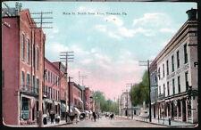 TOWANDA PA Main Street Hendelman's Medicines Horse & Buggy Antique Postcard Vtg