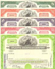 Atlantic Richfield Company > ARCO oil & gas > lot of 5 stock certificates share
