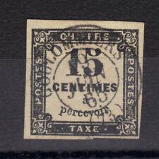 TAXE n°4  15c NOIR Oblitéré Litho cad 1865 sans  charniere ,sans clair RARE