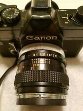 !!! Vintage Black Canon FTb QL 35mm Film Camera, FD 50mm 1:1.4 Lens !!!