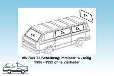 VW Bus T3 Satz Scheibendichtungen 6-teilig,  orig. Qualität 86-92